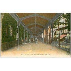 carte postale ancienne 03 VICHY. Parc Allée couverte