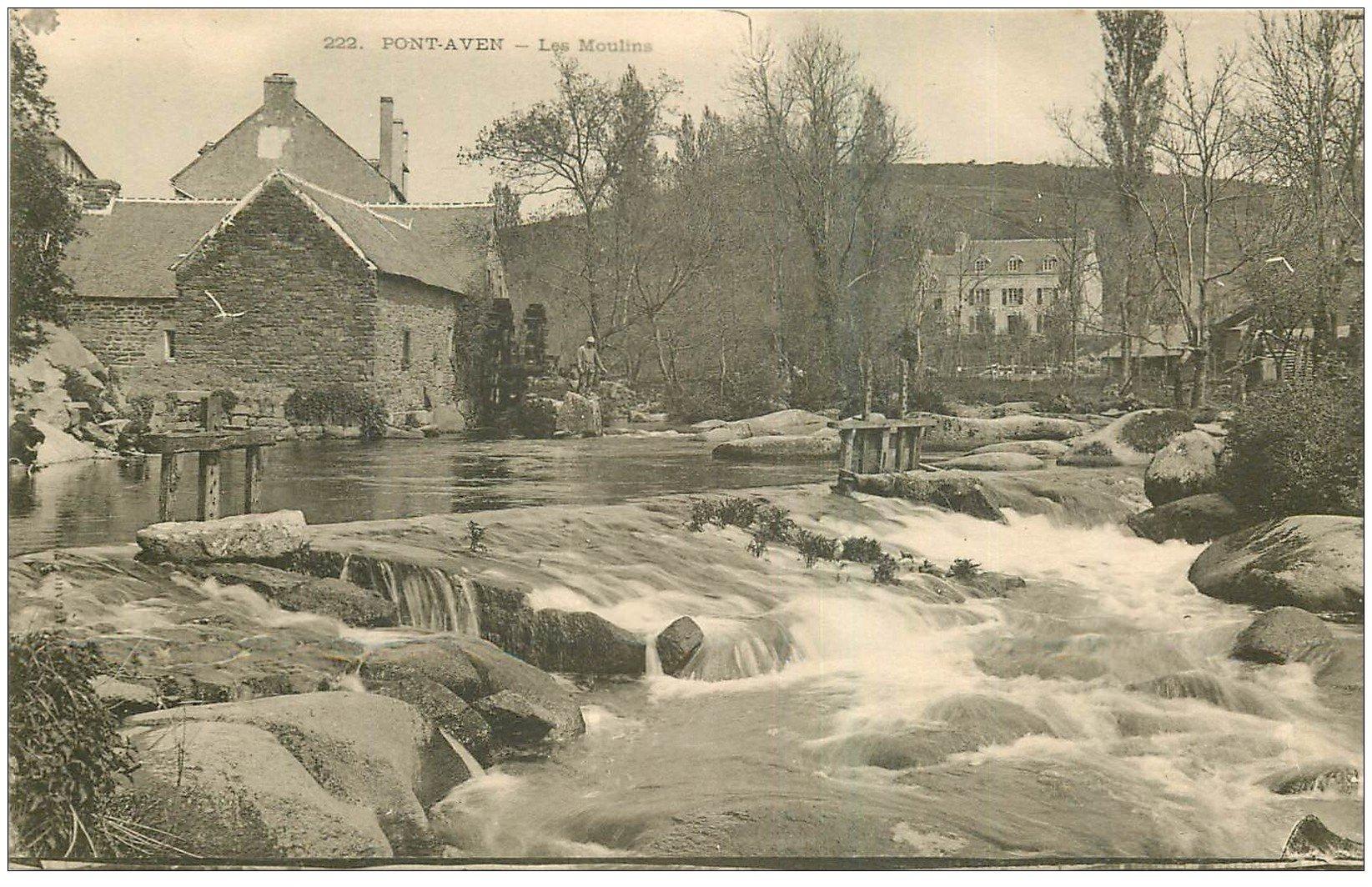 29 Pont Aven Les Moulins Vers 1900