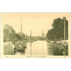 carte postale ancienne 29 QUIMPER. Barques de Pêcheurs sur l'Odet