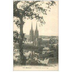carte postale ancienne 29 QUIMPER. Cathédrale vue du Frugy