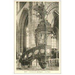carte postale ancienne 29 QUIMPER. Chaire Cathédrale