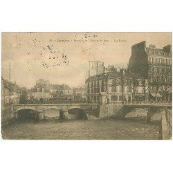 carte postale ancienne 29 QUIMPER. Les Postes Jonction Steir et Odet 1905