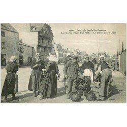 29 QUIMPER. L'Industrie Sardinière Bretonne. Marins livrant leur Pêche et Départ pour l'Usine. Métiers de la Mer Sardine