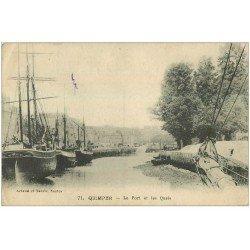 carte postale ancienne 29 QUIMPER. Port et Quais
