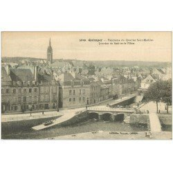 carte postale ancienne 29 QUIMPER. Quartier Saint-mathieu. Steir et Odet