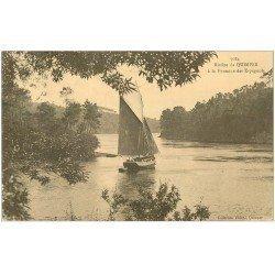 carte postale ancienne 29 QUIMPER. Rivière à la Fontaine des Espagnols 1931