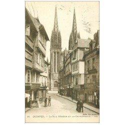 carte postale ancienne 29 QUIMPER. Rue Kéréon