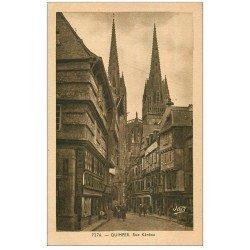 carte postale ancienne 29 QUIMPER. Rue Kéréou. Dressoir
