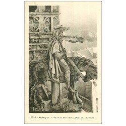 carte postale ancienne 29 QUIMPER. Statue Roi Gralon