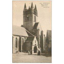 carte postale ancienne 29 QUIMPERLE. Eglise Saint-Michel