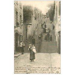 carte postale ancienne 29 QUIMPERLE. La Rue Chambriers vers 1903. Superbe animation