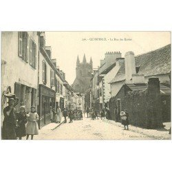 carte postale ancienne 29 QUIMPERLE. La Rue des Ecoles