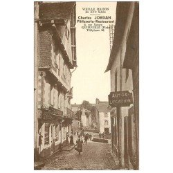 carte postale ancienne 29 QUIMPERLE. Pâtisserie Restaurant 8 rue Savary