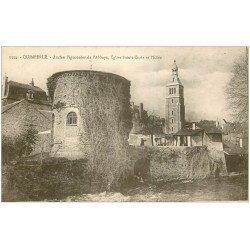 carte postale ancienne 29 QUIMPERLE. Pigeonnier Abbaye Eglise Sainte-Croix et Ellée