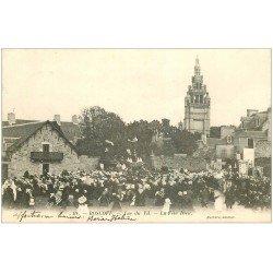 carte postale ancienne 29 ROSCOFF. La Fête Dieu vue du Vil 1904