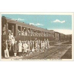 carte postale ancienne 29 TREBOUL. Colonie Vacances du Mans. Gare