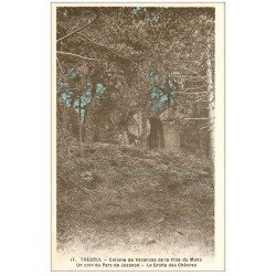 carte postale ancienne 29 TREBOUL. Colonie Vacances du Mans. Grotte Chèvres