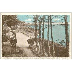 carte postale ancienne 29 TREBOUL. Colonie Vacances du Mans. Terrasse Josanon