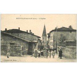carte postale ancienne 01 NEUVILLE-SUR-AIN. L'Eglise