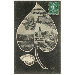 carte postale ancienne 01 OYONNAX. Multivues 1915