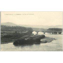 carte postale ancienne 31 CAZERES. Pont sur la Garonne