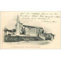 carte postale ancienne 31 EGLISE DE PIBRAC vers 1900