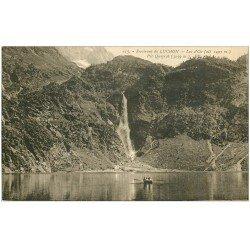 carte postale ancienne 31 LAC D'OO. Cascade et Pic Quairat embarcation