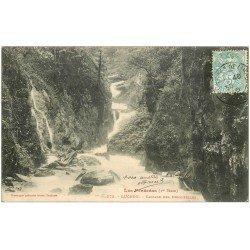 carte postale ancienne 31 LUCHON. Cascade des Demoiselles 1906
