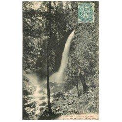 carte postale ancienne 31 LUCHON. Cascade du Coeur 1906