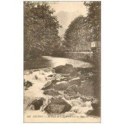 carte postale ancienne 31 LUCHON. Chute de la Pique et Port Venasque 1921