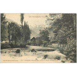 carte postale ancienne 31 LUCHON. Chute Pique et Pont Venasque