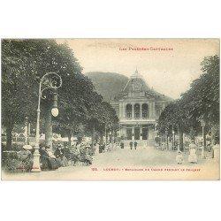 carte postale ancienne 31 LUCHON. Concert Esplanade du Casino 1919