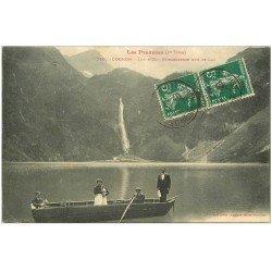 carte postale ancienne 31 LUCHON. Embarcation sur Lac d'Oo 1917