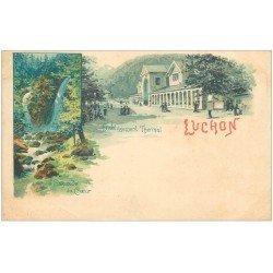 carte postale ancienne 31 LUCHON. Etablissement Thermal vers 1900