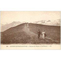 carte postale ancienne 31 LUCHON. Glaciers Sommet du Plateau