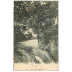 carte postale ancienne 31 LUCHON. Gouffre de Bonneau route Vallée du Lys