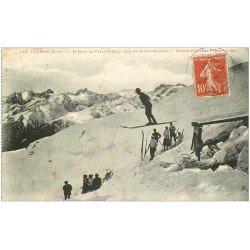 carte postale ancienne 31 LUCHON. Saut de Ski Sports d'Hiver 1914