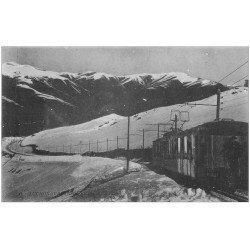 carte postale ancienne 31 LUCHON. Train à Crémaillière dans le soir