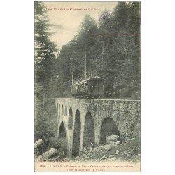carte postale ancienne 31 LUCHON. Tram dur Viaduc Chemin de Fer à Crémaillière