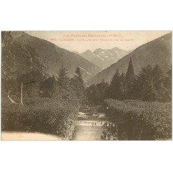 carte postale ancienne 31 LUCHON. Vallée vers Vénasque animation 1926