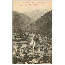 carte postale ancienne 31 LUCHON. Vue générale Montagnes frontières