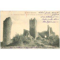 carte postale ancienne 31 MONTESPAN. Ruines du Château 1903 animation