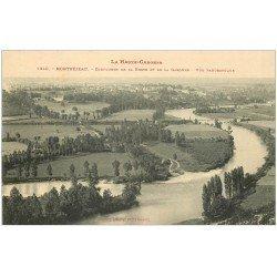 carte postale ancienne 31 MONTREJEAU. Confluent Neste et Garonne