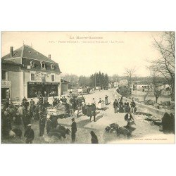 carte postale ancienne 31 MONTREJEAU. Gourdan-Polignan. La Place