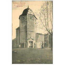carte postale ancienne 31 MONTREJEAU. Le Clocher