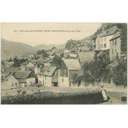 carte postale ancienne 31 SAINT-AVENTIN. Village Route du Lac d'Oo 1906