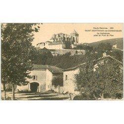 carte postale ancienne 31 SAINT-BERTRAND-DE-COMMINGES. Cathédrale du Pont du Plan