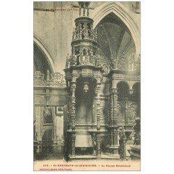 carte postale ancienne 31 SAINT-BERTRAND-DE-COMMINGES. Stalle Episcopale