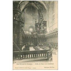 carte postale ancienne 31 SAINT-BERTRAND-DE-COMMINGES. Stalles du Choeur et Orgues