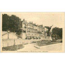 carte postale ancienne 31 SAINT-GAUDENS. Belvédère. Brasserie Aux Trois Maréchaux